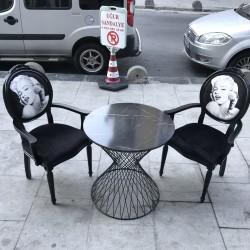 Marilyn Monroe Takım Masa Sandalye